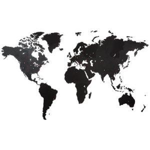 Houten wereldkaart 280 x 170