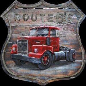 Metal Art 3D Truck op schild Schilderij wanddecoratie