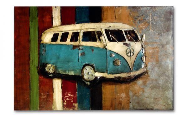 Metalen schilderij VW bus