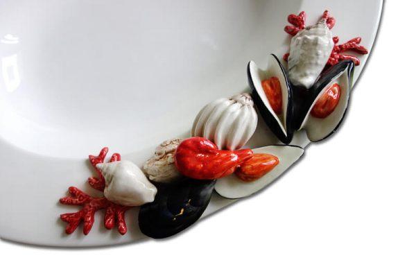 Ovale schaal met zeevruchten