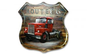 3D schilderij Truck