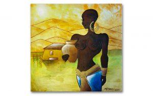 schilderij- african woman