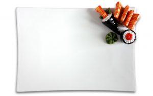 Sushi schaal rechthoekig