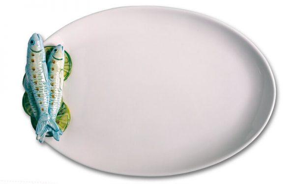 Ovale Schaal met Sardines