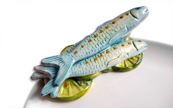 Serveerschaal met sardines
