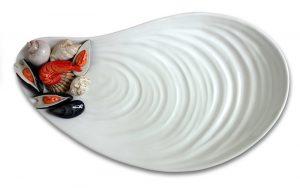 Serveerschaal mosselschelp
