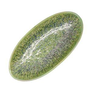 Platte serveerschaal groen