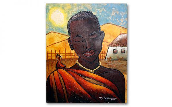 Schilderij African