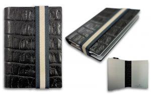 Q7 wallet zwart leer