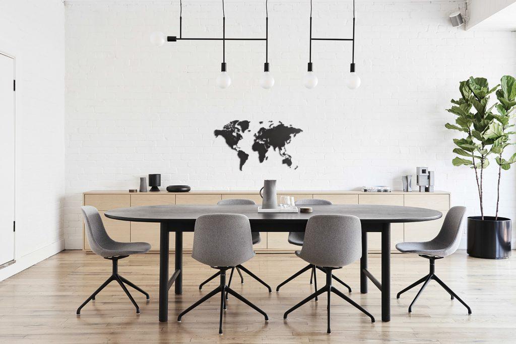 Wereldkaart hout wanddecoratie