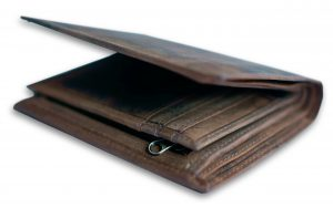 Leren portemonnee bruin