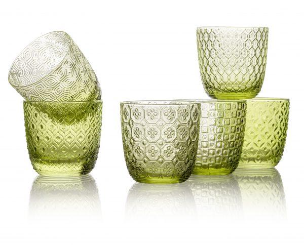 Luxe Waterglazen 'Sixties' Groen