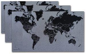 wereldkaart vilt