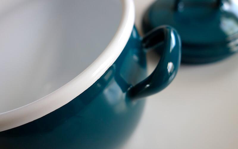 Geëmailleerde Buikpot Blauw