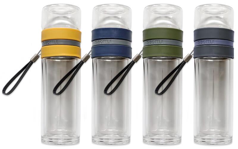 T-Bottle 4 kleuren theefles