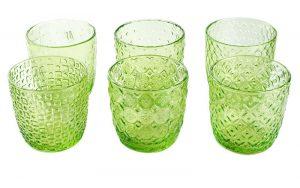 Luxe Waterglazen Sixties Groen
