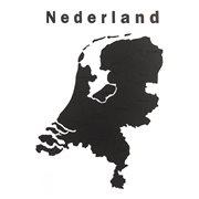Landkaart Nederland Hout muurdecoratie