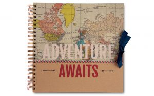 scrapbook, plakboek 'adventure'