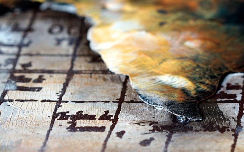 Metal Art 3D Wereldkaart wanddecoratie- schilderijGoud