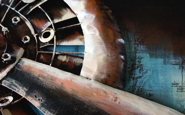 Metal Art 3D Propeller Wanddecoratie - Schilderij