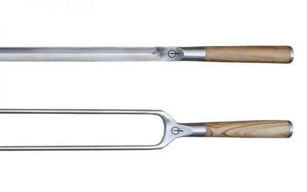 Churrasco Forged Olive Spies Vvorm & Fork Set 2 BBQ spiesen