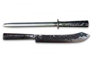 Slagersmes & Aanzetstaal Brute Forged Set