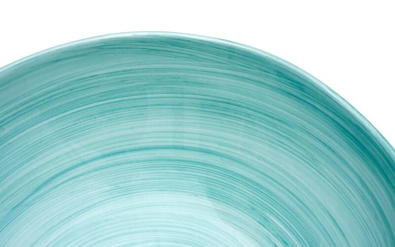 Aardewerk Schaal Oceaanblauw